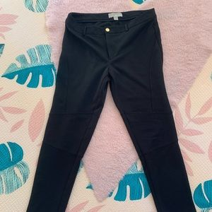Black Michael Kors moto leggings